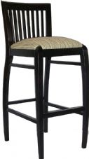 Anaheim Wooden High Stool with Upholstered Seat in Wenge